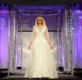 Empfindliche Spitze Appliques eine Zeile Hochzeits-Kleid-Kleid