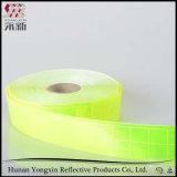 Película de advertência da fita da evidência da segurança reflexiva amarela fluorescente