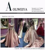 Ein Zeilen-/Abend-Kleid der Prinzessin-Satin für Hochzeit