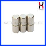 Boro hierro neodimio imán del cilindro de tamaño del cliente
