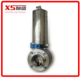 스테인리스 Ss304 압축 공기를 넣은 액추에이터 Triclamp 나비 벨브 (Apring에 공기)