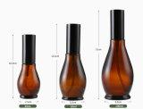 bernsteinfarbige Glasflasche des spray-100ml für das kosmetische Verpacken