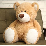 Beige Big Stitting Plush Huggable Bear Toy Teddy