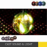 Красочные танцы шарик диско лампа наружного зеркала заднего вида для дискотека в силу