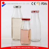 Venda por grosso de leite fresco frasco de vidro transparente com tampa roscada