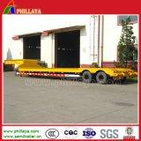30-40ton Double Axle 2axle Haul Lowboy Veste de montgolfière Lowbed Truck Trailers