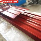 A telhadura de aço galvanizada Prepainted da bobina Z275/Metal cobre materiais de construção