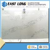 Olhar em mármore branco Calacatta Qu Pedra de quartzo artificial branco