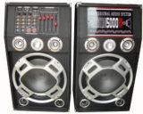 Double haut-parleur actif de 6 po conçu professionnellement avec Bluetooth