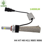 LED H4 Xhp70 LED de la linterna del coche H4 Bombillas 2 PCS Cris LED luz de la cabeza de Coches