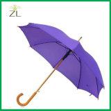 De promotie Paraplu van de Reclame van het Af:drukken van het Embleem van de Douane van het Toestel van de Regen van de Hoogste Kwaliteit met Houten Handvat