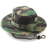 عامة يوسع حافة [كمو] قبّعة عسكريّة جيش دلو غطاء مع خيط