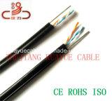 A geléia encheu 1 cabo do computador do cabo do cabo UTP de uma comunicação par do cabo de fio da gota de 24AWG/rede de cabo