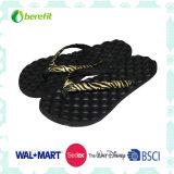 [إفا] نعل و [بو] فرعة حذاء مع يزيّن خطّ محيطيّ مجمل, [لدي سليبّر]