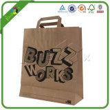 Sacs en papier brun fait sur mesure avec le logo pour les vêtements