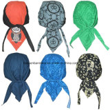Custom Made Logo imprimé coton promotionnel Dew Rag Biker Sports Headwraps Doo Rag