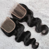 4*4ボディ波のフリースタイルのブラジルの人間の毛髪の閉鎖