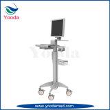 Justierbare ECG Laptop-Karre der Höhen-im Krankenhaus