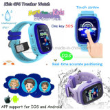 IP67 impermeabilizan el reloj del perseguidor del GPS de los cabritos con el botón el SOS para la ayuda D25