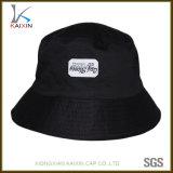 Progettare il vostro proprio cappello per il cliente della benna del cotone del nero di marchio