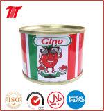 Gino pasta de tomate 70gx50tin disco abierto y fácil de abrir