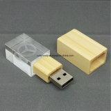 Movimentação de madeira/acrílica do USB, movimentação do flash do USB