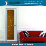 シャンペンカラーミラーの花の装飾の簡単な装飾のアルミニウム振動ドア