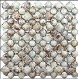 Vidrio azulejos de mosaico de Shell del mar de la resina, la perla blanca pura mosaico de Shell para la decoración de la pared WC