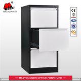 Utilização em escritório 3 gaveta Armário para armazenamento de arquivamento verticais de metal