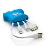 Mobilephones를 위한 Charging와 Cync 1 저어지 USB Cable Bag에 대하여 중국 Manufacturer Wholesale New Design Multifunction 3