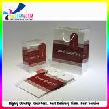 Poignée corde imprimé personnalisé sac de papier couché