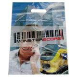 Ponte de pie HDPE Die Cut portador de bolsas de plástico para los accesorios (FLD-8550)