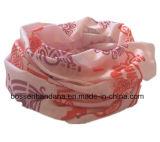 중국 OEM 생성에 의하여 주문을 받아서 만들어지는 로고 분홍색 소녀의 인쇄된 다기능 스포츠 스카프 Headwear 담황색의 연한 가죽