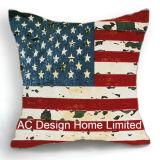 Dekoration-quadratisches Amerika-Markierungsfahnen-Entwurfs-Dekor-Gewebe-Kissen W/Filling