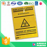 Bolsos amarillos inútiles médicos de Biohazards
