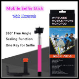 Costruito in Bluetooth Wireless Monopod Handheld Selfie Stick (Z07-5)