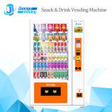 Máquina expendedora de bebidas y snacks para la venta