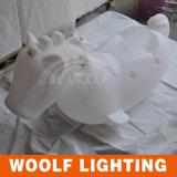 Cavallo del giocattolo della parte LED del PE di Woolf dei bambini di plastica di illuminazione