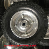 Roda de borracha 350-7 com borda de aço