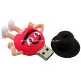 Azionamento dell'istantaneo del USB del PVC del fumetto di Thumbdrive del bastone del USB del fagiolo del cioccolato