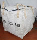 二重袋のオレンジ大きいトン袋