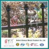 Geschweißter Stahlpfosten-Zaun-/Puder-überzogener Stangen-Oberseite-Metallzaun