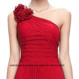 Frauen Chiffon- Ein-Schulter langes Abend-Partei-Abschlussball-Kleid