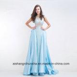 流行のAラインの床長さのテュルの長いプロムの服