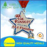 Kundenspezifische Sport-Metallmedaillon-Medaille mit antikem Ende vom China-Lieferanten