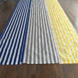Raschel 그물세공이 발코니 그늘 그물, 파란 및 백색 줄무늬에 의하여, HDPE 뜨개질을 했다