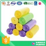 Sacos de lixo de plástico biodegradável coloridos com venda quente