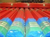 中型の赤い塗られた消火活動鋼管