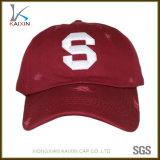 カスタム赤く明白な苦しめられた野球帽の洗浄されたお父さんの帽子