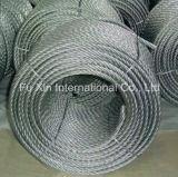 Corde galvanisée de fil d'acier, corde de fil d'acier